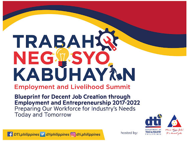 "The Department of Trade and Industry (DTI) in partnership with Department of Labor and Employment were determined to bring employment and livelihood program to the grassroots level as they press on with the program ""Trabaho, Negosyo, Kabuhayan"" (TNK). The program is aimed to end unemployment in the country and to introduce entrepreneurship among the Filipinos enabling them to stand on their own feet to sustain their families and their communities.     TNK Summit involves different organizations and individuals from the government and private sector including civil society groups working hand-in-hand towards increasing incomes by generating more job opportunities and promoting entrepreneurship.  TNK top priority is to create decent jobs and develop livelihood through creativity, innovation and entrepreneurship towards the realization of ""AMBISYON 2040: Matatag at Panatag na Buhay"" and 2030 AGENDA FOR SUSTAINABLE DEVELOPMENT.  Based on the 2015 Labor Force Survey, the unemployment rate is continue ti rise from 38.9 million in 2010 up to 41.3 million in 2015 and still growing. The government has to do something to address the situation and avoid it to climb further.   Today the services sector has the highest number of employment provided at 54.7 percent followed by agriculture sector at 29.2 percent. The  industry sector is noticeably the lowest employment provider at only 16.2 percent.   Studies show that large number of unemployment rate are those areas with high poverty incidence.  It shows that 50 percent of unemployed  individuals belong to ages 15-24 years old, 64 percent of which were men, with some 39 percent only attained high school and some 36 percent made their way up to college.  There are also  individuals who are enjoying their job but are considered underemployed, which means, they are not getting the right compensation for their qualifications.     There are various challenges face by our society involving job such as : -The number of Youth NEET (Not in employment education and training) are significantly high -Low female labor force participation rate, -Underemployment in agriculture is higher than those with industry and services; and -Uneven labor force demand across the region.  Filipinos take time to find jobs after graduating  due to lack of skills, experience, and they expect higher salary. Some others consider working overseas, hence, the number of Overseas Filipino Workers (OFWs) continues to rise.   The program aims to fill all unemployment by 2022.   The aim to eradicate the growing unemployment and underemployment rate needs a resolution and the DTI  together with its partners formulate the following strategies:          The DTI Trabaho,Negosyo,Kabuhayan is conducting job fairs and caravan in every region and every one including jobseekers, entrepreneurs and those who are planning to start a new business are welcome. During the TNK caravan, DTI, DOLE and their partners conducts job hiring and livelihood seminars. Every interested Filipino can join by walking-in to the job fairs and seminars they are conducting nationwide.  IMPORTANT NOTE: All infographics came from the DTI website. For more information, go to their website at www.dti.gov.ph Read More:     China's plans to hire Filipino household workers to their five major cities including Beijing and Shanghai, was reported at a local newspaper Philippine Star. it could be a big break for the household workers who are trying their luck in finding greener pastures by working overseas  China is offering up to P100,000  a month, or about HK$15,000. The existing minimum allowable wage for a foreign domestic helper in Hong Kong is  around HK$4,310 per month.  Dominador Say, undersecretary of the Department of Labor and Employment (DOLE), said that talks are underway with Chinese embassy officials on this possibility. China's five major cities, including Beijing, Shanghai and Xiamen will soon be the haven for Filipino domestic workers who are seeking higher income.  DOLE is expected to have further negotiations on the launch date with a delegation from China in September.   according to Usec Say, Chinese employers favor Filipino domestic workers for their English proficiency, which allows them to teach their employers' children.    Chinese embassy officials also mentioned that improving ties with the leadership of President Rodrigo Duterte has paved the way for the new policy to materialize.  There is presently a strict work visa system for foreign workers who want to enter mainland China. But according Usec. Say, China is serious about the proposal.   Philippine Labor Secretary Silvestre Bello said an estimated 200,000 Filipino domestic helpers are  presently working illegally in China. With a great demand for skilled domestic workers, Filipino OFWs would have an option to apply using legal processes on their desired higher salary for their sector. Source: ejinsight.com, PhilStar Read More:  The effectivity of the Nationwide Smoking Ban or  E.O. 26 (Providing for the Establishment of Smoke-free Environment in Public and Enclosed Places) started today, July 23, but only a few seems to be aware of it.  President Rodrigo Duterte signed the Executive Order 26 with the citizens health in mind. Presidential Spokesperson Ernesto Abella said the executive order is a milestone where the government prioritize public health protection.    The smoking ban includes smoking in places such as  schools, universities and colleges, playgrounds, restaurants and food preparation areas, basketball courts, stairwells, health centers, clinics, public and private hospitals, hotels, malls, elevators, taxis, buses, public utility jeepneys, ships, tricycles, trains, airplanes, and  gas stations which are prone to combustion. The Department of Health  urges all the establishments to post ""no smoking"" signs in compliance with the new executive order. They also appeal to the public to report any violation against the nationwide ban on smoking in public places.   Read More:          ©2017 THOUGHTSKOTO www.jbsolis.com SEARCH JBSOLIS, TYPE KEYWORDS and TITLE OF ARTICLE at the box below Smoking is only allowed in designated smoking areas to be provided by the owner of the establishment. Smoking in private vehicles parked in public areas is also prohibited. What Do You Need To know About The Nationwide Smoking Ban Violators will be fined P500 to P10,000, depending on their number of offenses, while owners of establishments caught violating the EO will face a fine of P5,000 or imprisonment of not more than 30 days. The Department of Health  urges all the establishments to post ""no smoking"" signs in compliance with the new executive order. They also appeal to the public to report any violation against the nationwide ban on smoking in public places.          ©2017 THOUGHTSKOTO  Dominador Say, undersecretary of the Department of Labor and Employment (DOLE), said that talks are underway with Chinese embassy officials on this possibility. China's five major cities, including Beijing, Shanghai and Xiamen will soon be the destinfor Filipino domestic workers who are seeking higher income."