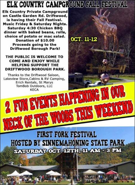 10-12 Fall Festival, Driftwood, PA