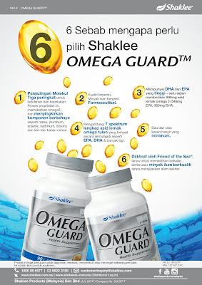Keistimewaan Omega Guard Shaklee