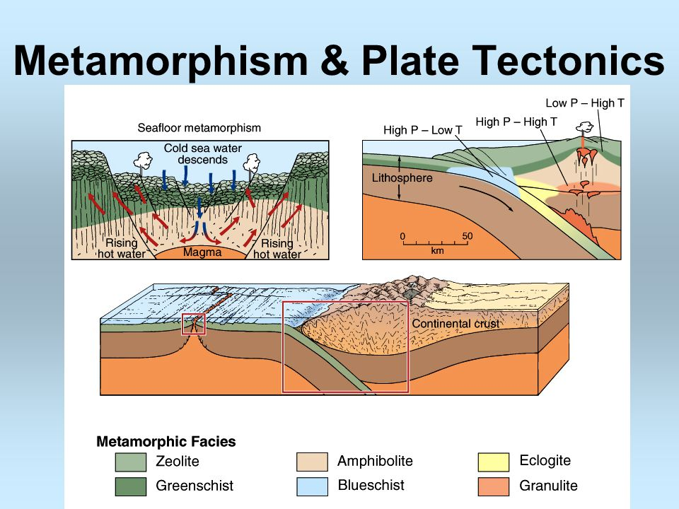 metamorphic rock formation The metamorphic rock formed is called gneiss notice that the grains are now  foliated this means that the platy (crystals squeezed flat) or elongated crystals  are.