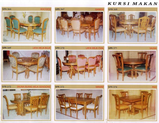 Set meja makan ukiran