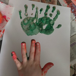 handprint art for kids