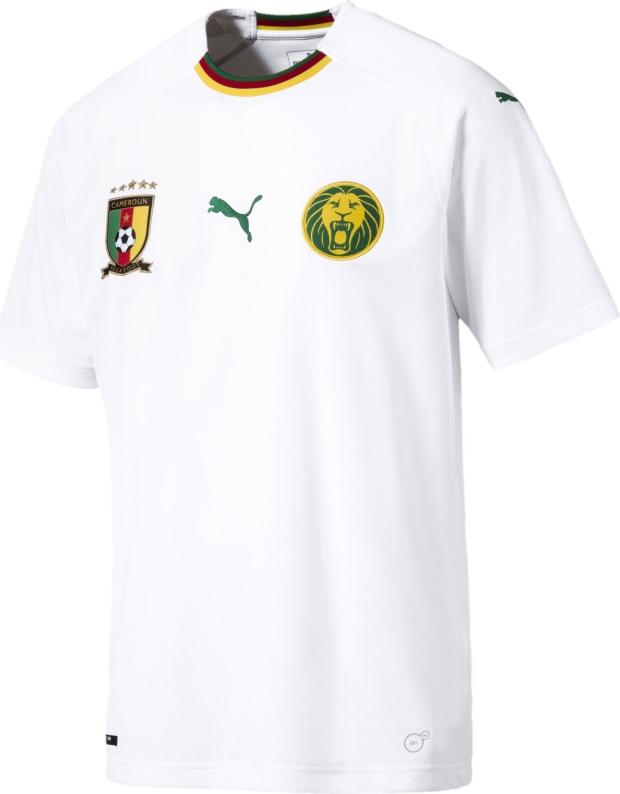 f7cd4c701a Puma apresenta a camisa reserva de Camarões. Após divulgar o uniforme  titular ...
