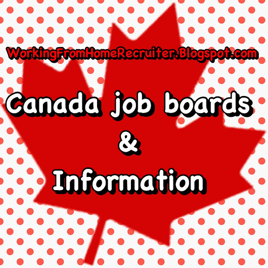 Canada Remote/Work From Home Job Boards & Information