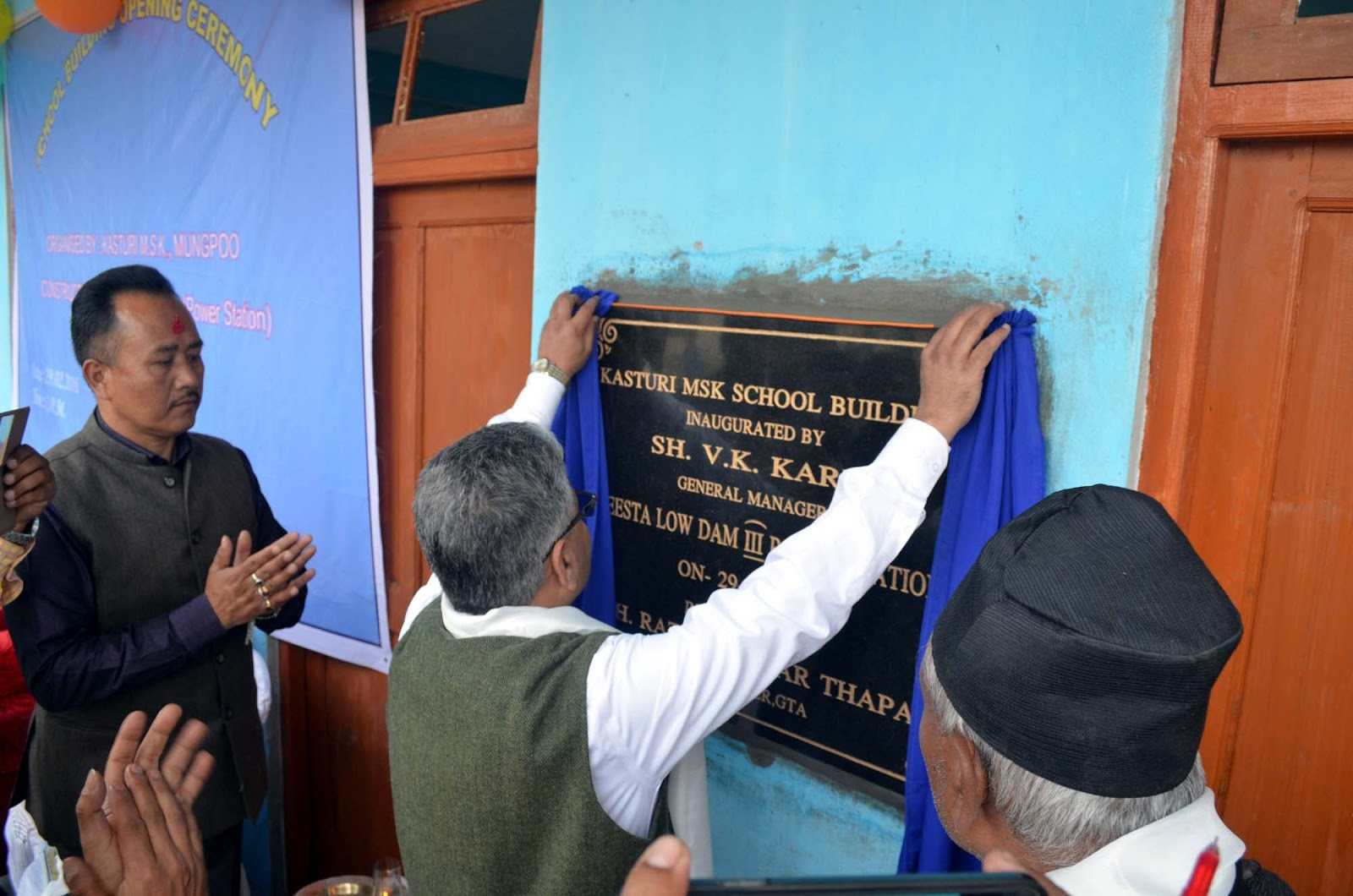 NHPC general Manager V.K Karn inaugurating Kasturi MSK building