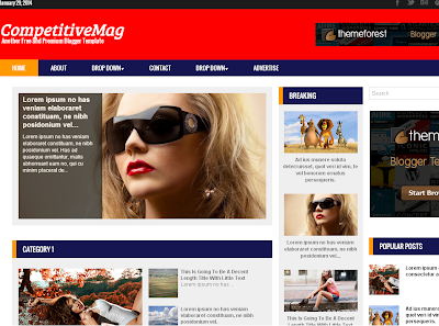 CompetitiveMag Responsive Blogger Template