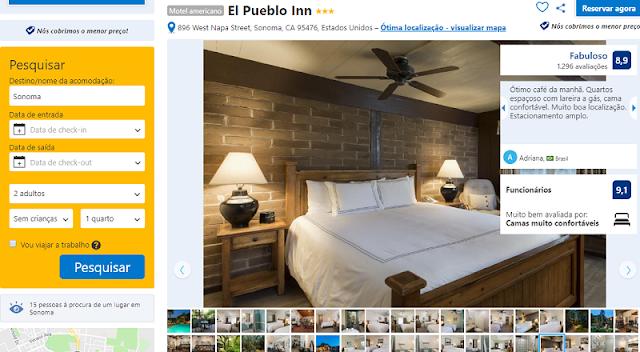 Estadia no Hotel El Pueblo Inn em Sonoma