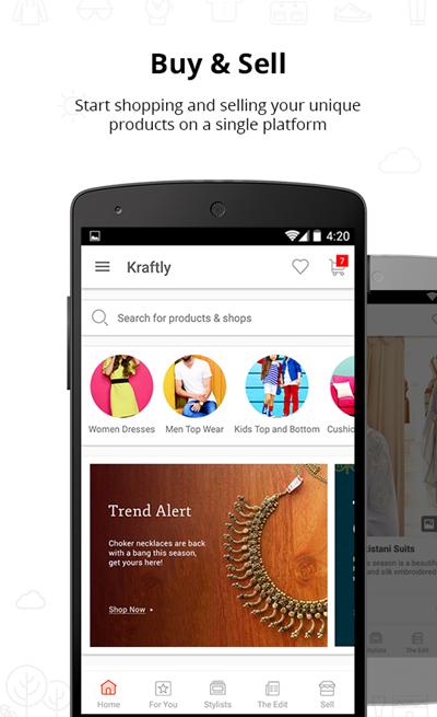Kraftly Online Shopping App