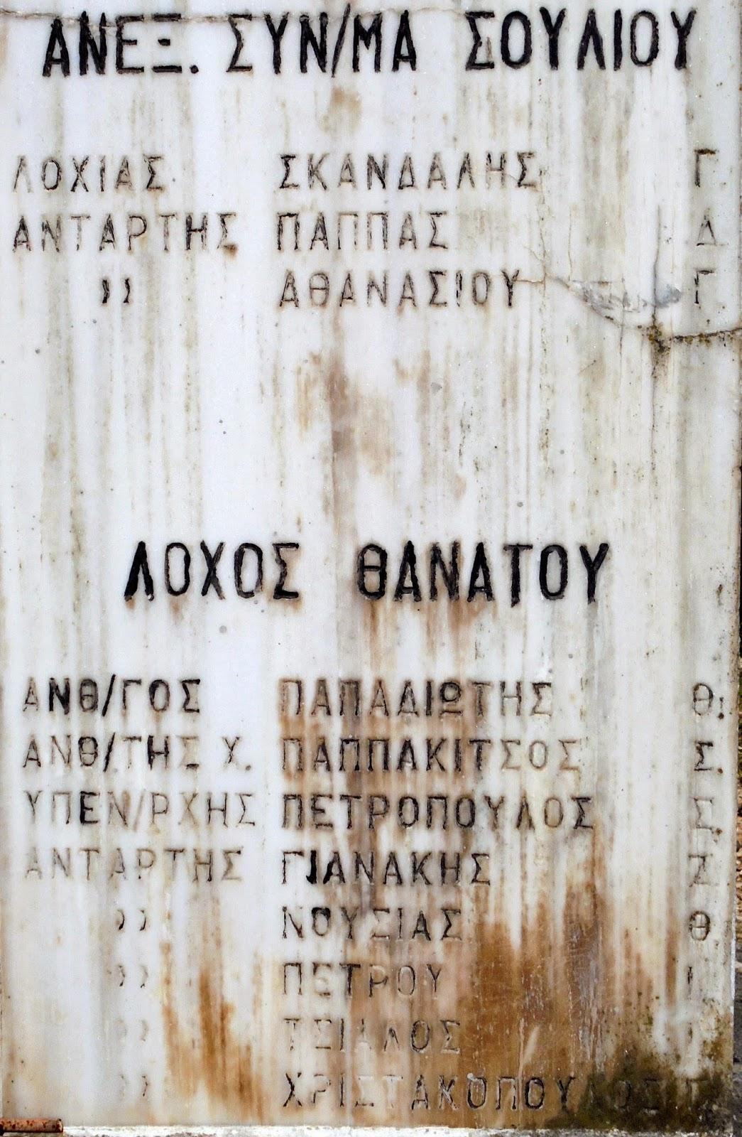 το μνημείο της Εθνικής Αντίστασης στην επαρχιακή οδών Ιωαννίνων - Άρτας