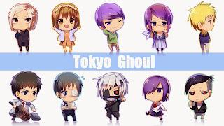 Tapeta HD z małymi postaciami z anime Tokyo Ghoul