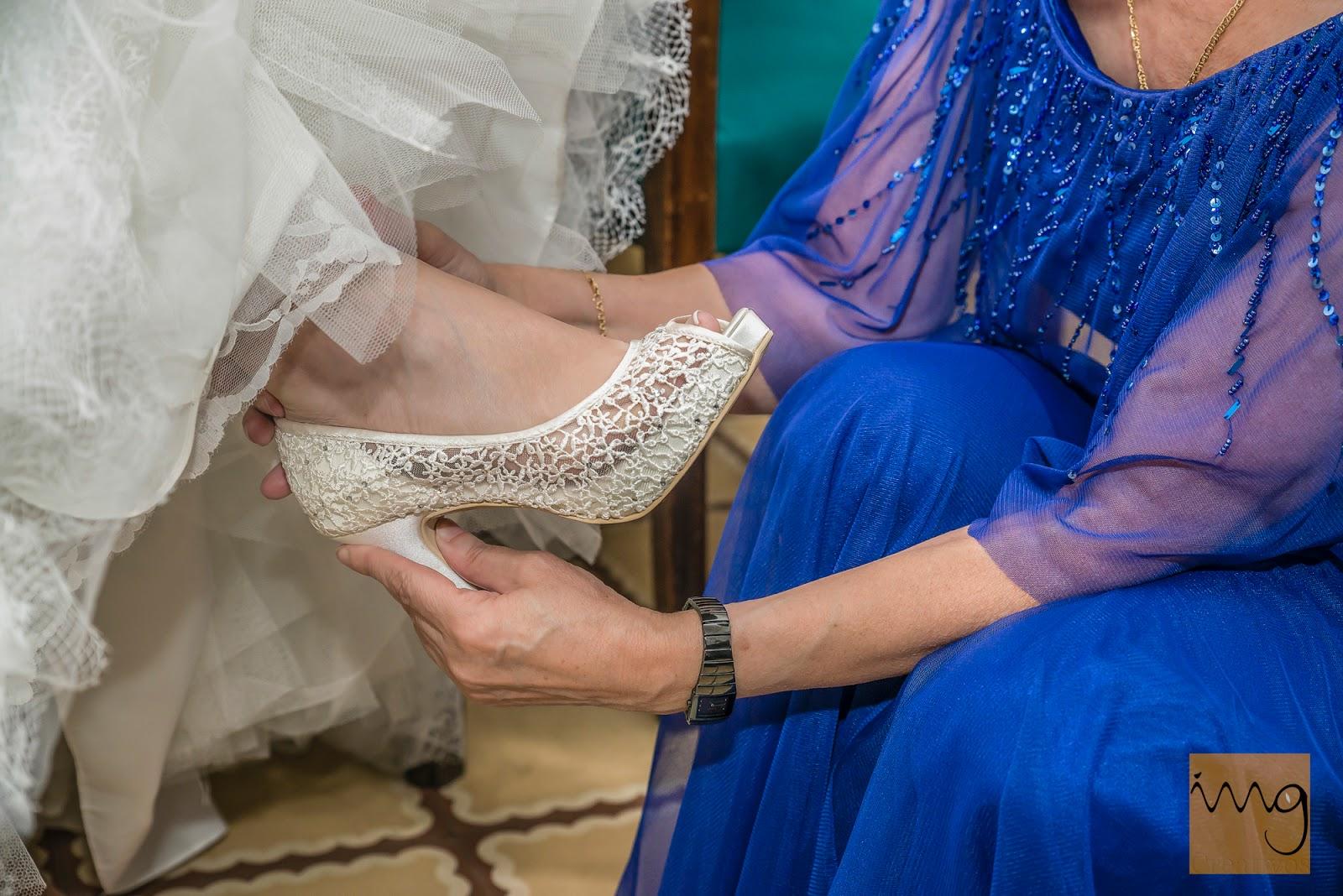 Fotografía de boda, detalle del zapato