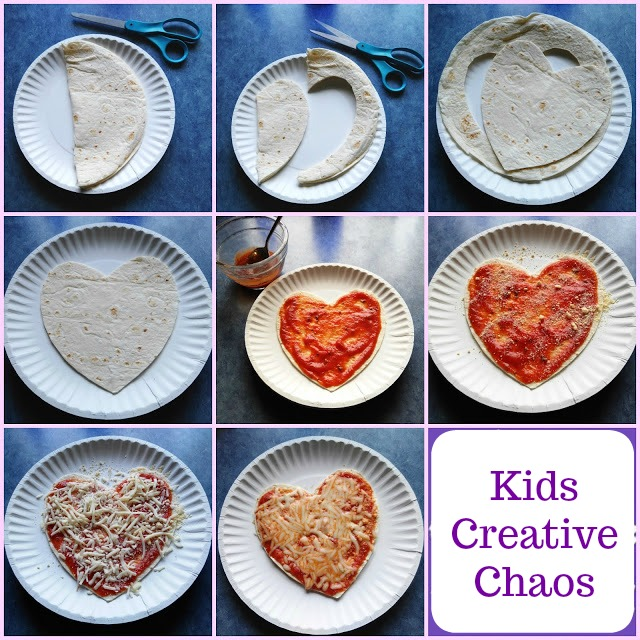 Homemade Heart Shaped Pizza without Yeast