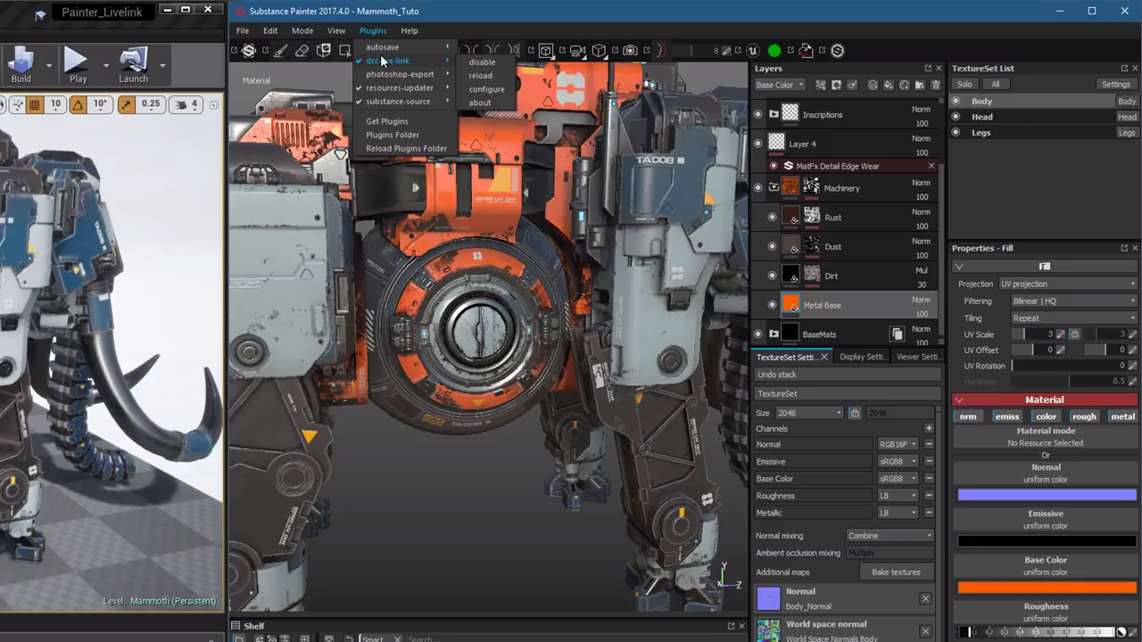 Substance Painter 2017 4: UE4 Livelink Plugin - Plugins