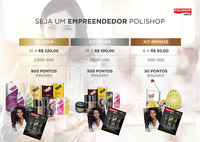 Cadastro especial para revendedoras de cosmético be-emotion, 6x 50,00 em produtos.POLISHOP