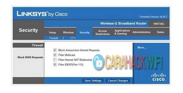 Aktifkan Router Firewall