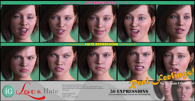 iG Expressions of Love and Hate for Genesis 8 Female