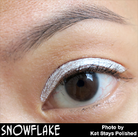 Jesse's Girl Cosmetics - Fluid Shadows - Snowflake | Kat Stays Polished