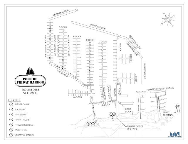 Friday Harbor Marina Map www.sailingthesanjuans.com