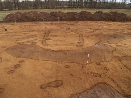 Did Stone Age people build a large labyrinth in Denmark?