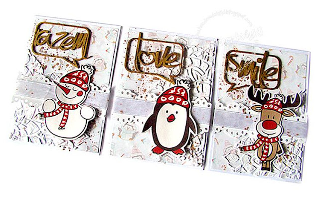 Zimowe kartki z przesłaniem