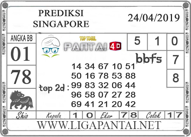 """Prediksi Togel """"SINGAPORE"""" PANTAI4D 24 APRIL 2019"""