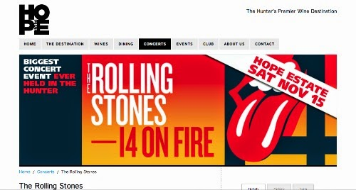 Rolling Stones Hunter valley live