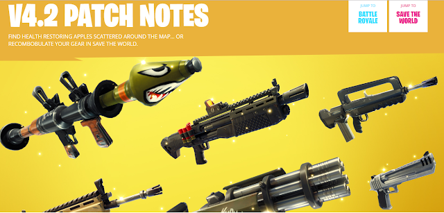 Fortnite Update 4.2 patch notes | bring apples, Legendary and Epic Burst Rifle
