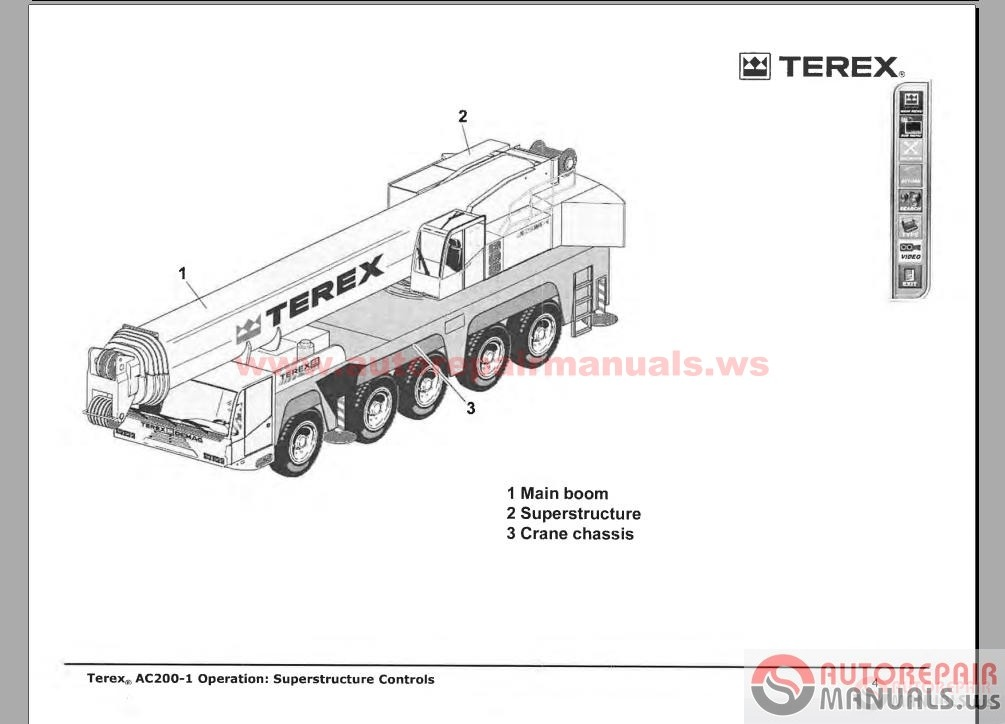 Free Auto Repair Manual : Terex Crane Shop Manual, Parts