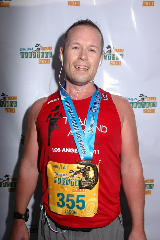 Jason after Disney Half Marathon 2011