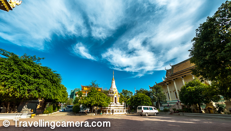 There is huge green landscape around Independence Monument of Phnom Penh and we loved walking around it. And the temple around it very beautiful, peaceful and huge. We recommend walk round this place as much as you can. There would be lot of new things to experience and try.