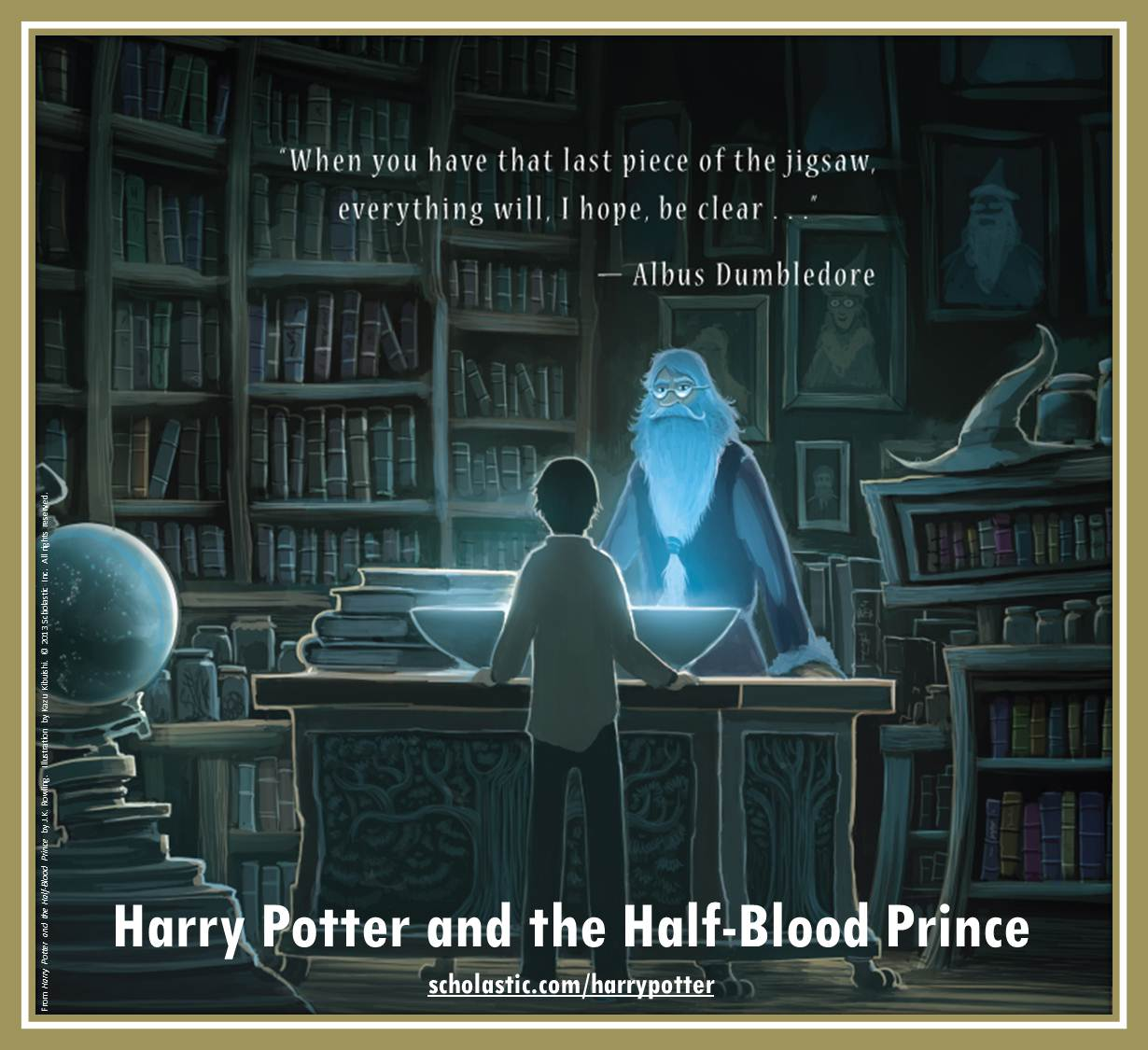 Harry Potter and the Half-Blood Prince back cover by Kazu Kibuishi