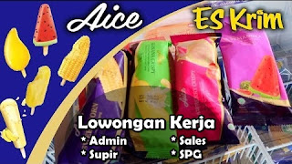 Lowongan Kerja Sales, SPG, Admin, & Supir PT Kapuas Intan Traserna Food (Aice) Pontianak