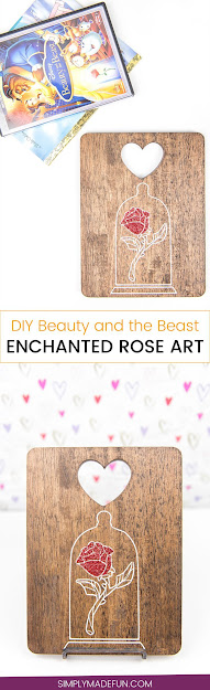 Beauty And The Beast Enchanted Rose Art  Disney Crafts  Silhouette Cameo  Crafts  Vinyl