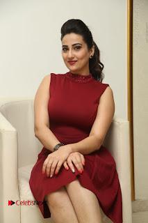 Telugu Tollywood Anchor Manjusha Pos in Red Short Dress  0089.JPG