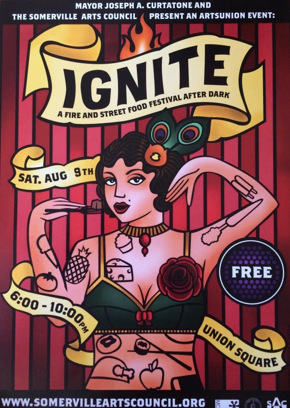 2014 Poster for Ignite: A Fire and Street Food Festival New England Fall Events