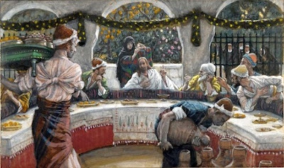 James Tissot, The Meal in the House of the Pharisee (1890)