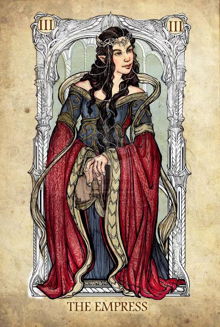Senhor dos anéis em cartas de tarô - A Imperatriz
