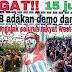 Ingat ! 15 Juni Aksi Demo Damai