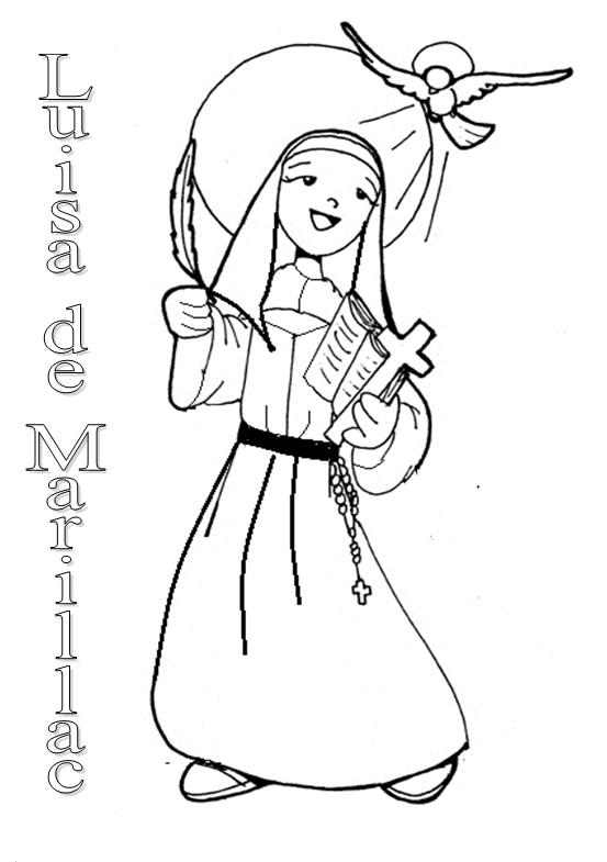 Luisa De Marillac Dibujo Para Colorear Primaria 4