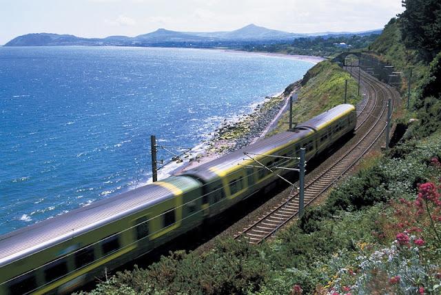 Viagem de trem pela Irlanda