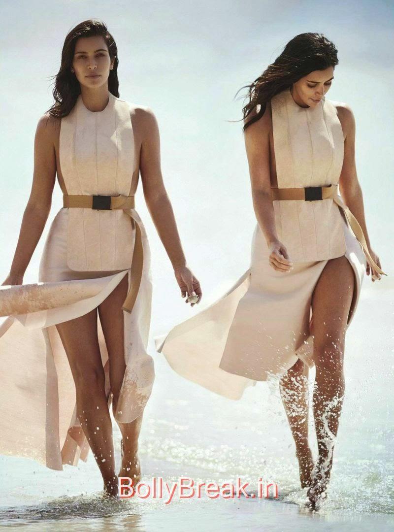 , Kim Kardashian Hot HD Magazine Scans For  Vogue Australia February 2015