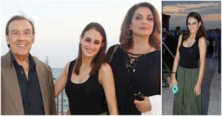 Ο Τόλης Βοσκόπουλος πανευτυχής πλάι στην Άντζελα Γκερέκου και την κόpη τους στη συναυλία του