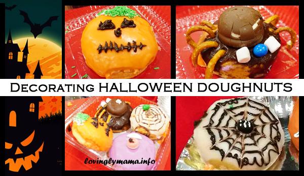 designing halloween doughnuts