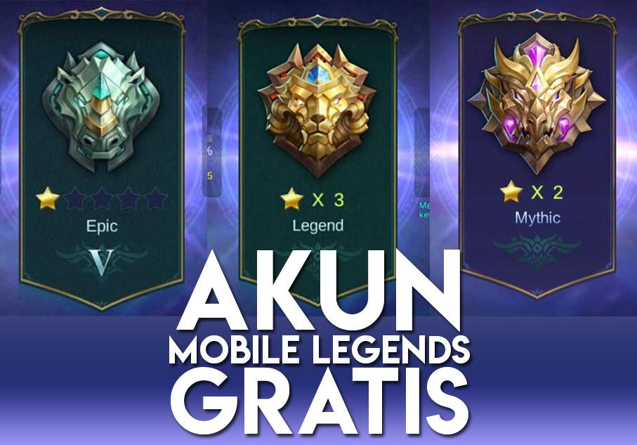 Kumpulan 20 Akun Mobile Legends 2018 Gratis Terbaru Level 30 Mythic Free Download Apps Mod Apk Update