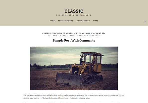 Classic writing blogger template blogger templates gallery for Free blogger templates for writers