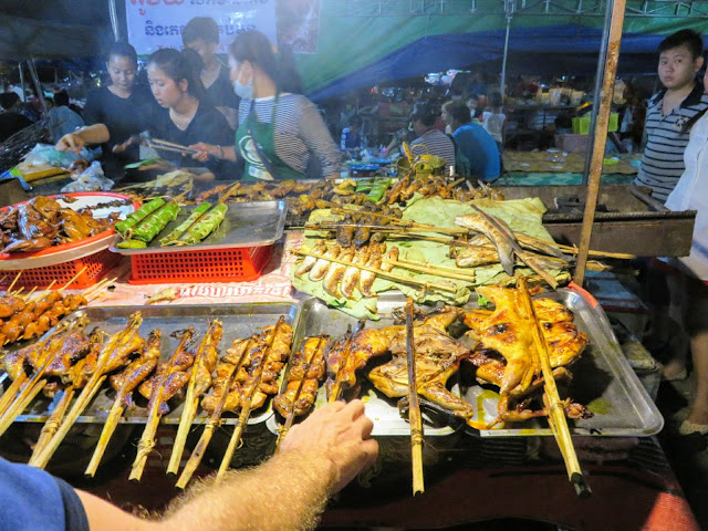 Cambodian Barbecue at the Night Market in Siem Reap Cambodia