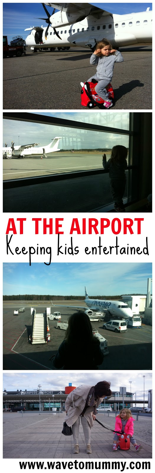 How to entertain toddlers and kids at the airport. Three great ways to keep the kids happy and entertained when at the airport. Includes lots of tips for families and parents for air travel and airport layovers.
