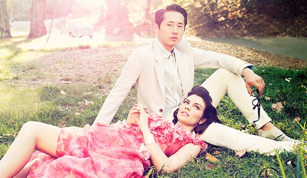 Steven Yeun And Lauren Cohan, Engaged? | Empire Boo Boo Kitty  |Steven Yeun And Lauren Cohan Engaged