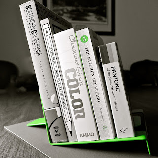 Green Bookstand: photo by Cliff Hutson