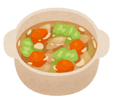 野菜スープのイラスト